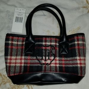 NWT Plaid mini tote